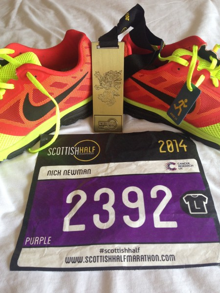 Medal and race number